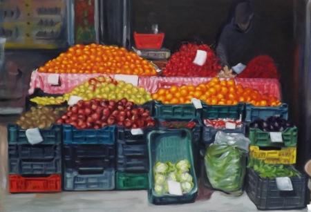 Zöldség-gyümölcs – 120 x 170 cm olaj, vászon