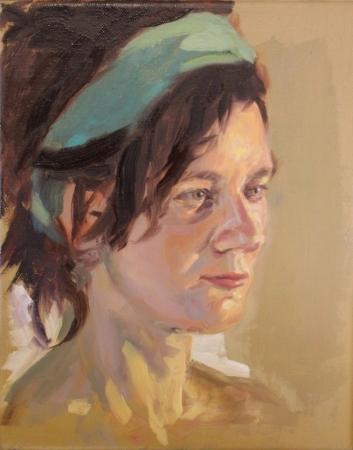 Portrétanulmány – 30 x 24 cm olaj, vászon