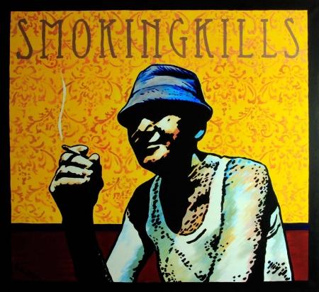 Smokingkills, akril, vászon, 120x110cm, 2015