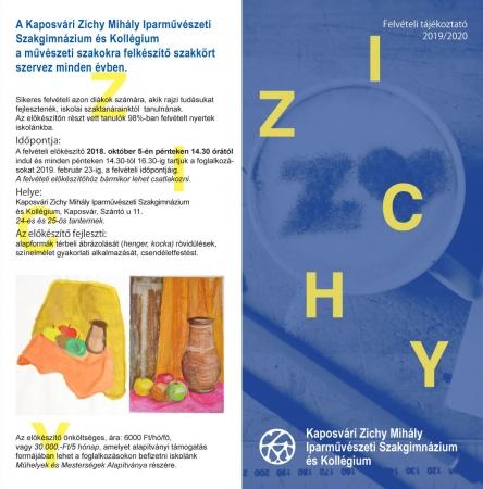 Zichy Felvételi Kiadvány 2018